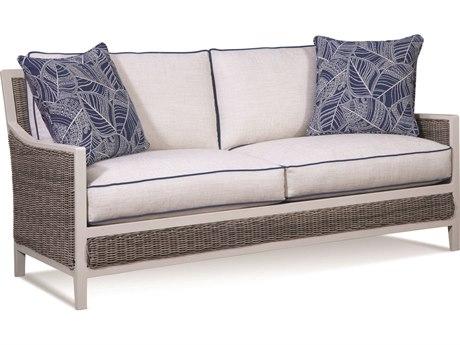 Braxton Culler Outdoor Molly Stonewash Wicker Cushion Sofa PatioLiving