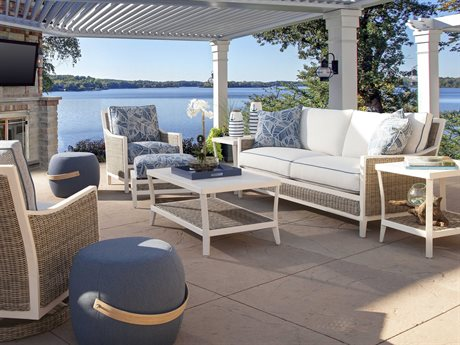 Braxton Culler Outdoor Molly Wicker Cushion Lounge Set PatioLiving