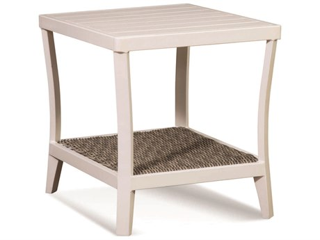 Braxton Culler Outdoor Molly Stonewash 25'' Wide Aluminum Resin Square End Table BCO418071
