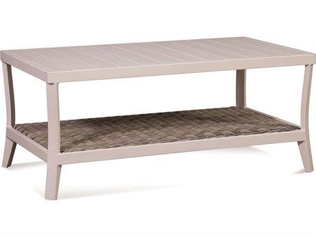 Braxton Culler Outdoor Molly Stonewash 42'' Wide Aluminum Resin Rectangular Coffee Table BCO418072