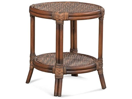 Braxton Culler Outdoor Sardinia Cigar 18'' Wide Wicker Round End Table BCO421022