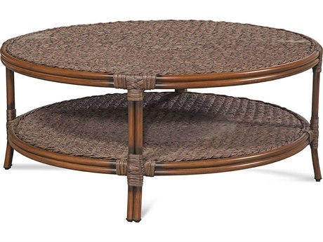 Braxton Culler Outdoor Sardinia Cigar 42'' Wide Wicker Round Chat Table PatioLiving