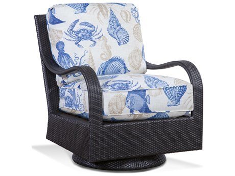 Braxton Culler Outdoor Brighton Pointe Charcoal Wicker Cushion Lounge Chair