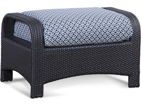 Braxton Culler Outdoor Brighton Pointe Charcoal Wicker Cushion Ottoman