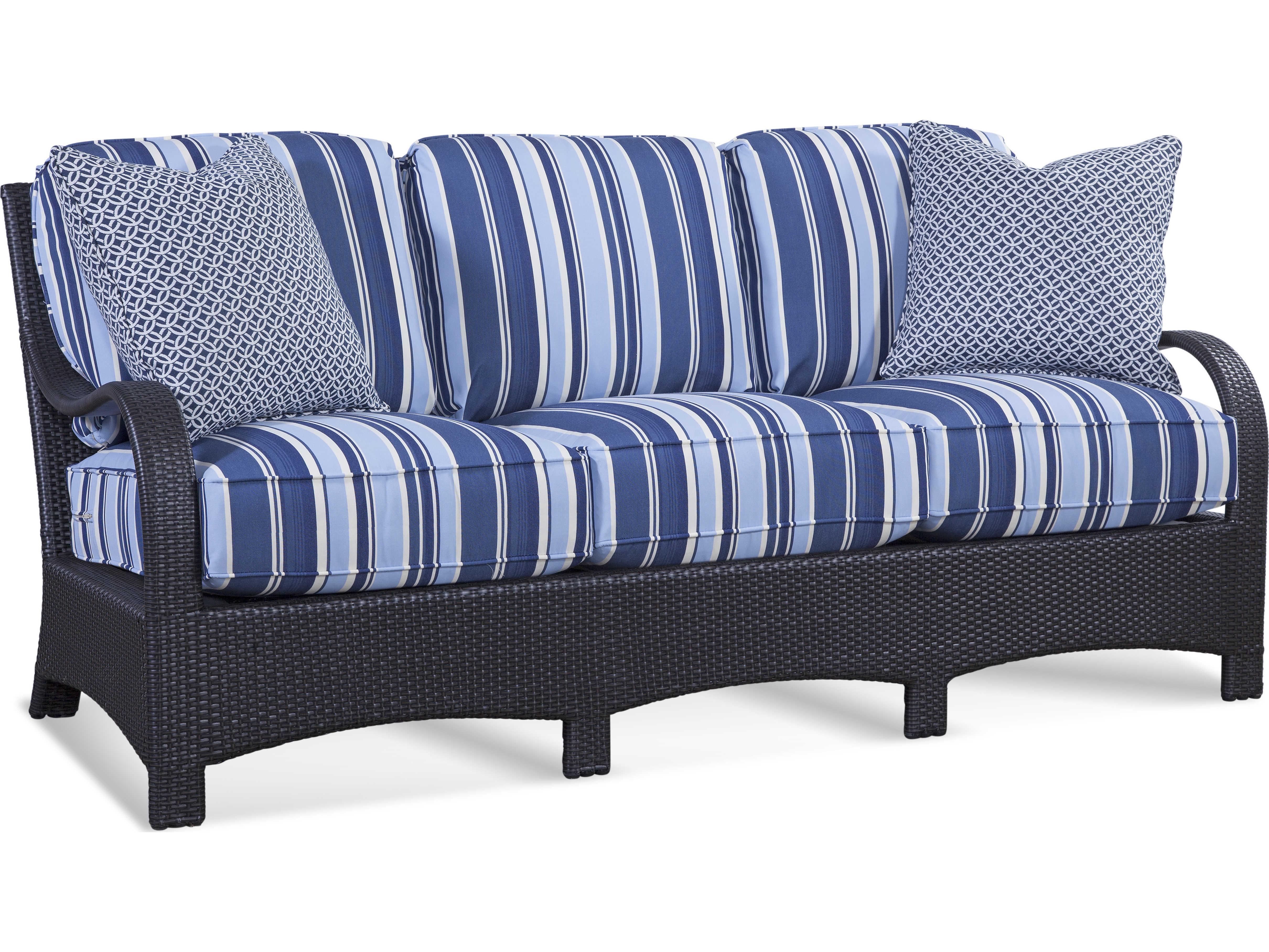 Braxton Culler Outdoor Brighton Pointe Charcoal Wicker Cushion Sofa Bco435011