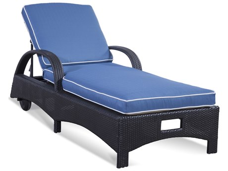 Braxton Culler Outdoor Brighton Pointe Charcoal Wicker Cushion Chaise Lounge BCO435092