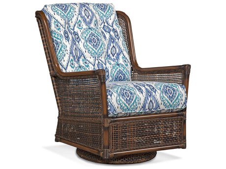 Braxton Culler Outdoor Palermo Russet Wicker Cushion Lounge Chair