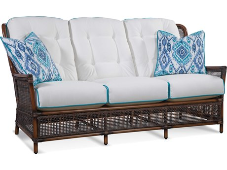 Braxton Culler Outdoor Palermo Russet Wicker Cushion Sofa PatioLiving