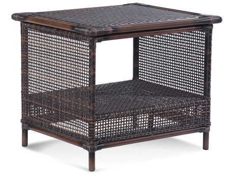 Braxton Culler Outdoor Palermo Russet 22'' Wide Wicker Rectangular End Table PatioLiving