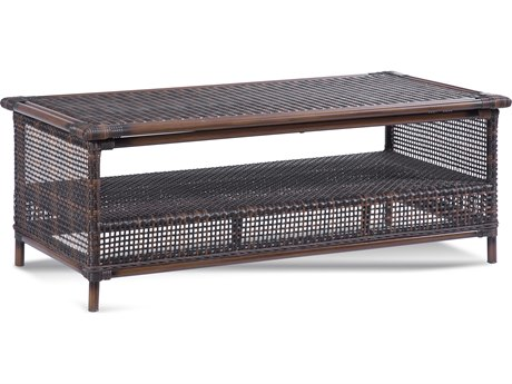 Braxton Culler Outdoor Palermo Russet 47'' Wide Wicker Rectangular Coffee Table PatioLiving