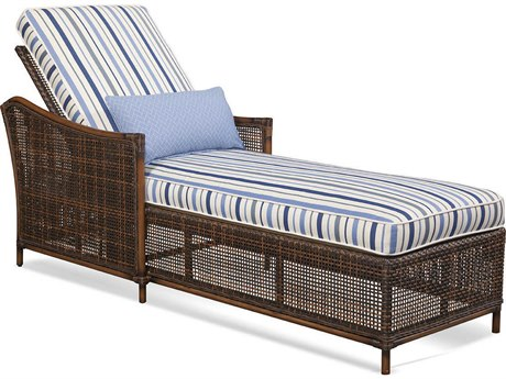 Braxton Culler Outdoor Palermo Russet Wicker Cushion Chaise Lounge BCO440092