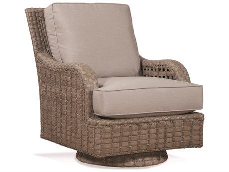 Braxton Culler Outdoor Lake Geneva Driftwood Or Java Wicker Cushion Lounge Chair PatioLiving