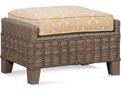 Braxton Culler Outdoor Lake Geneva Driftwood Or Java Wicker Cushion Ottoman PatioLiving
