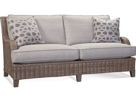 Braxton Culler Outdoor Lake Geneva Driftwood Or Java Wicker Cushion Sofa PatioLiving