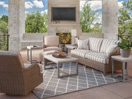 Braxton Culler Outdoor Lake Geneva Wicker Cushion Lounge Set PatioLiving