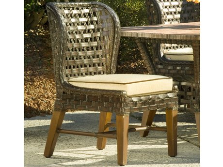 Braxton Culler Outdoor Lake Geneva Java Wicker Cushion Dining Chair