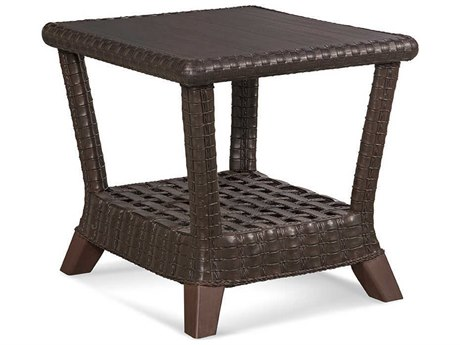 Braxton Culler Outdoor Lake Geneva Java 24'' Wide Wicker Rectangular End Table PatioLiving