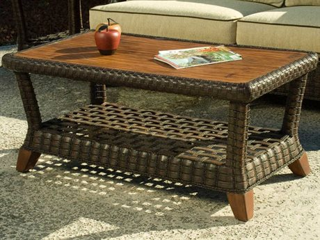 Braxton Culler Outdoor Lake Geneva Java 46'' Wide Wicker Rectangular Coffee Table BCO444072