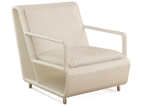 Braxton Culler Outdoor Montauk Frost White Wicker Cushion Lounge Chair BCO448001