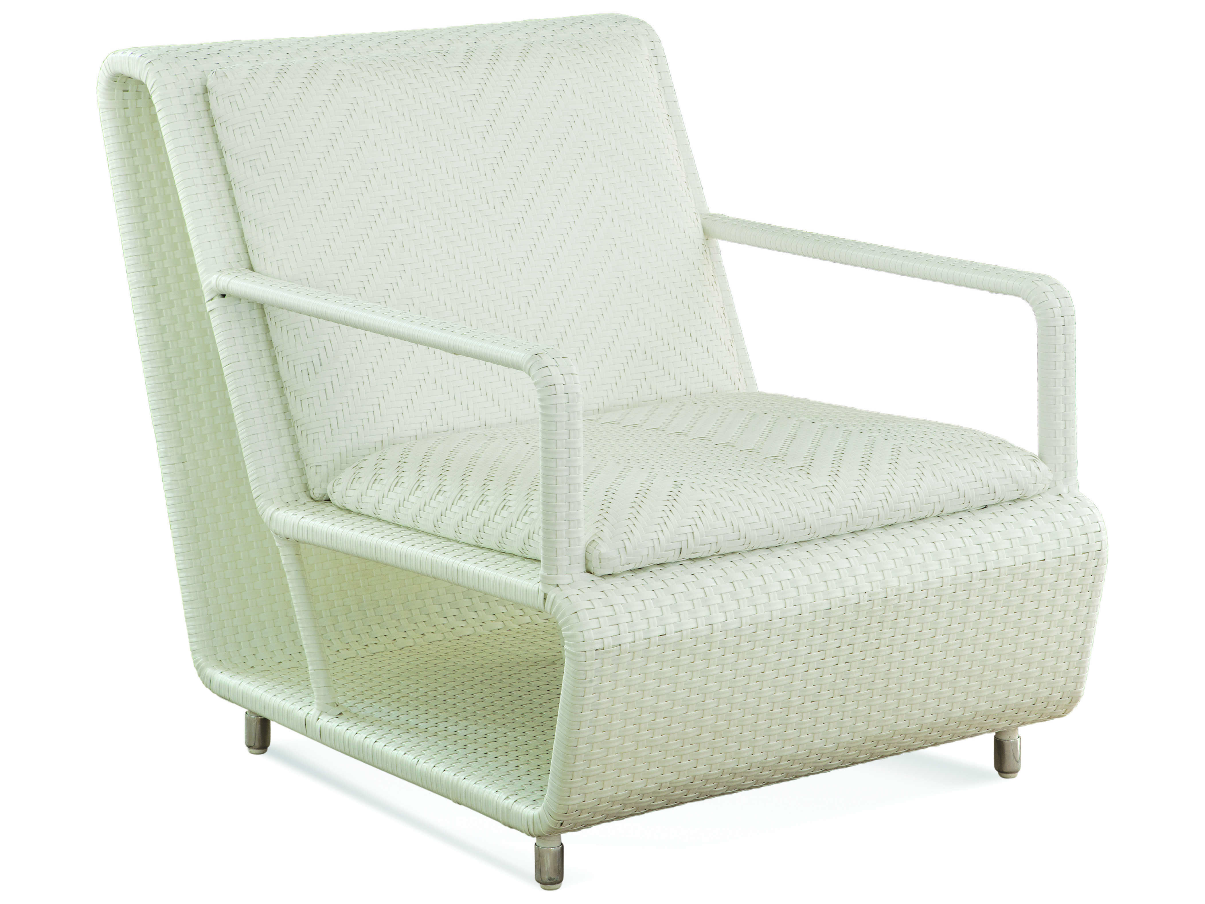 Surprising Braxton Culler Outdoor Montauk Frost White Wicker Cushion Lounge Chair Andrewgaddart Wooden Chair Designs For Living Room Andrewgaddartcom