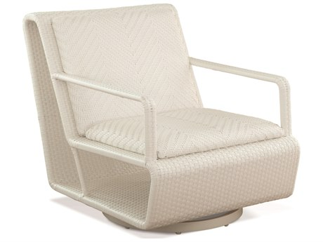 Braxton Culler Outdoor Montauk Frost White Wicker Cushion Lounge Chair BCO448005
