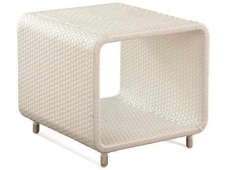 Braxton Culler Outdoor Montauk Frost White 20'' Wide Wicker Square End Table BCO448071