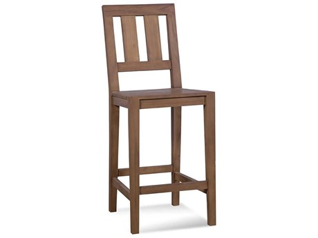 Braxton Culler Outdoor Messina Teak Bar Stool