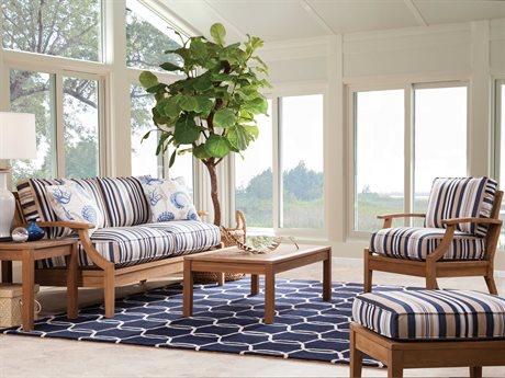 Braxton Culler Outdoor Messina Teak Cushion Lounge Set PatioLiving