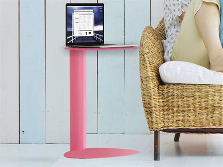BDI Bink 19'' x 15'' Pink Mobile Media Table