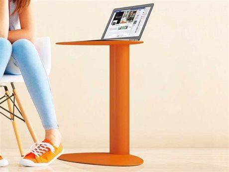 BDI Bink 19'' x 15'' Tangerine Mobile Media Table