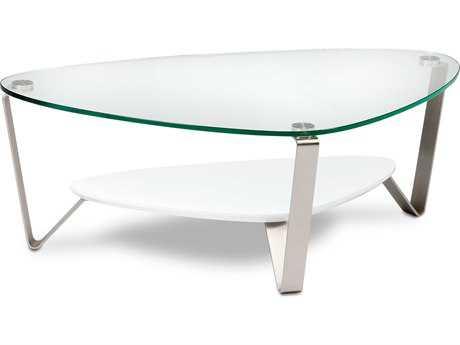 BDI Dino 54.75'' x 33.25'' Soft Triangular Gloss White Large Coffee Table