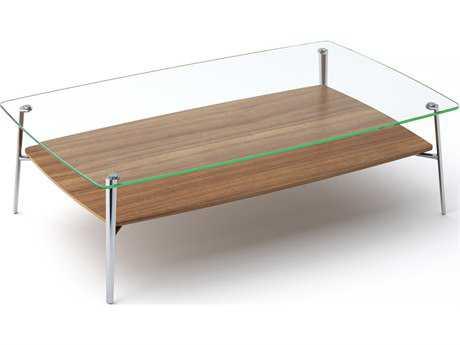 BDI Tazz 52'' x 32'' Rectangular Natural Walnut Large Coffee Table