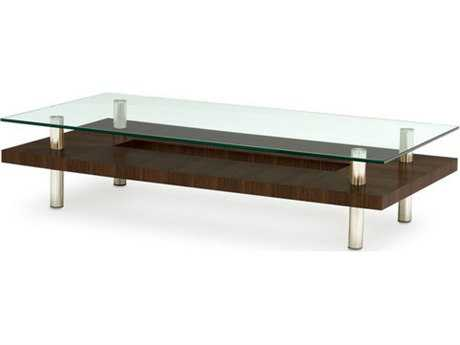 BDI Hokkaido 60'' x 30'' Rectangular Chocolate Stained Walnut Large Coffee Table