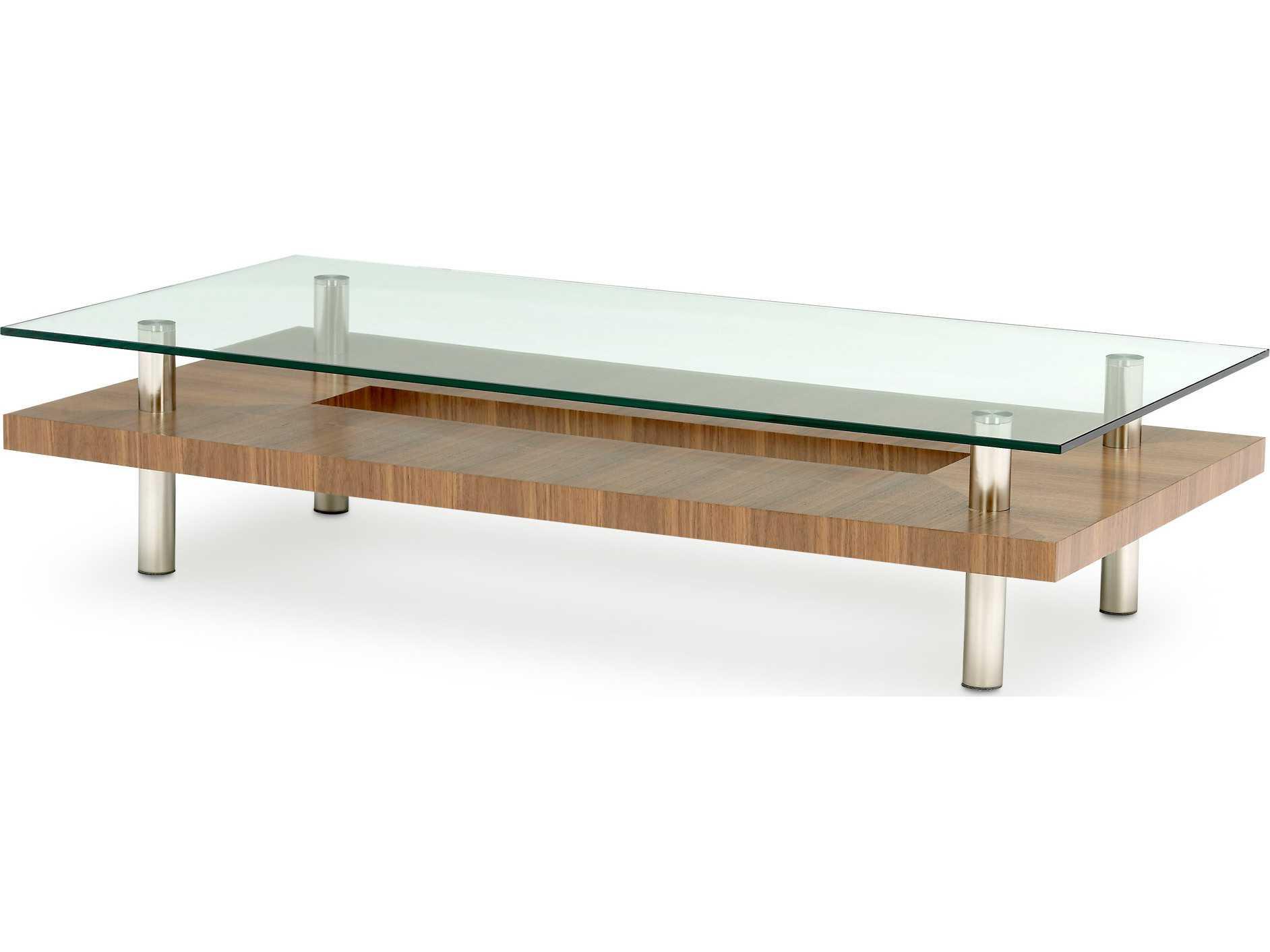 Bdi hokkaido 60 39 39 x 30 39 39 rectangular natural walnut large for Coffee table 60 x 60