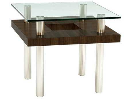 BDI Hokkaido 24'' Square Chocolate Stained Walnut End Table