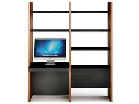 BDI Semblance Office 66L x 79.5H Two-Section Bookcase with Inline Desk