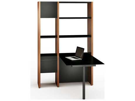 BDI Semblance Office 50.75'' x 61.5'' Two-Section Peninsula Desk & Bookcase