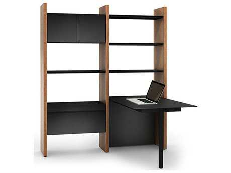 BDI Semblance Office 66'' x 61.5'' Two-Section Peninsula Desk & Bookcase