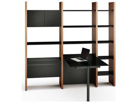 BDI Semblance Office 83'' x 61.5'' Three-Section Peninsula Desk & Bookcase