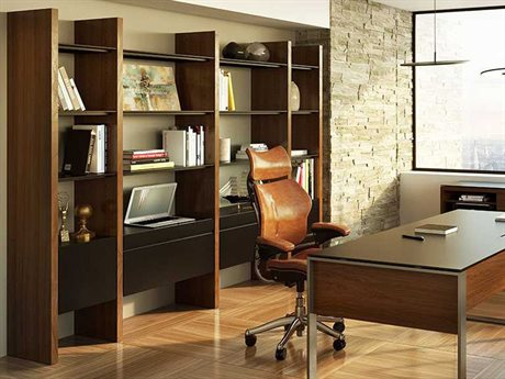 BDI Semblance Office 100L x 79.5H Four-Section Tall Credenza Bookcase