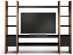 BDI Semblance Home Theater 99.75'' x 16.5'' Three-Section Entertainment Center with AV Shelves