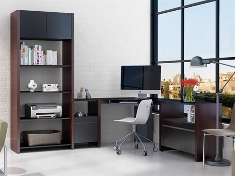 BDI Semblance Office 74.5-91.5'' x 16.5'' Four-Section High & Low Corner Computer Desk
