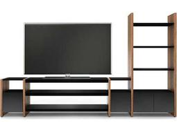 BDI Semblance Home Theater 132'' x 16.5'' Four-Section High & Low Entertainment Center with AV Shelves