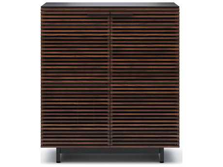 BDI Corridor 36'' x 18.5'' Chocolate Stained Walnut Compact Bar Cabinet