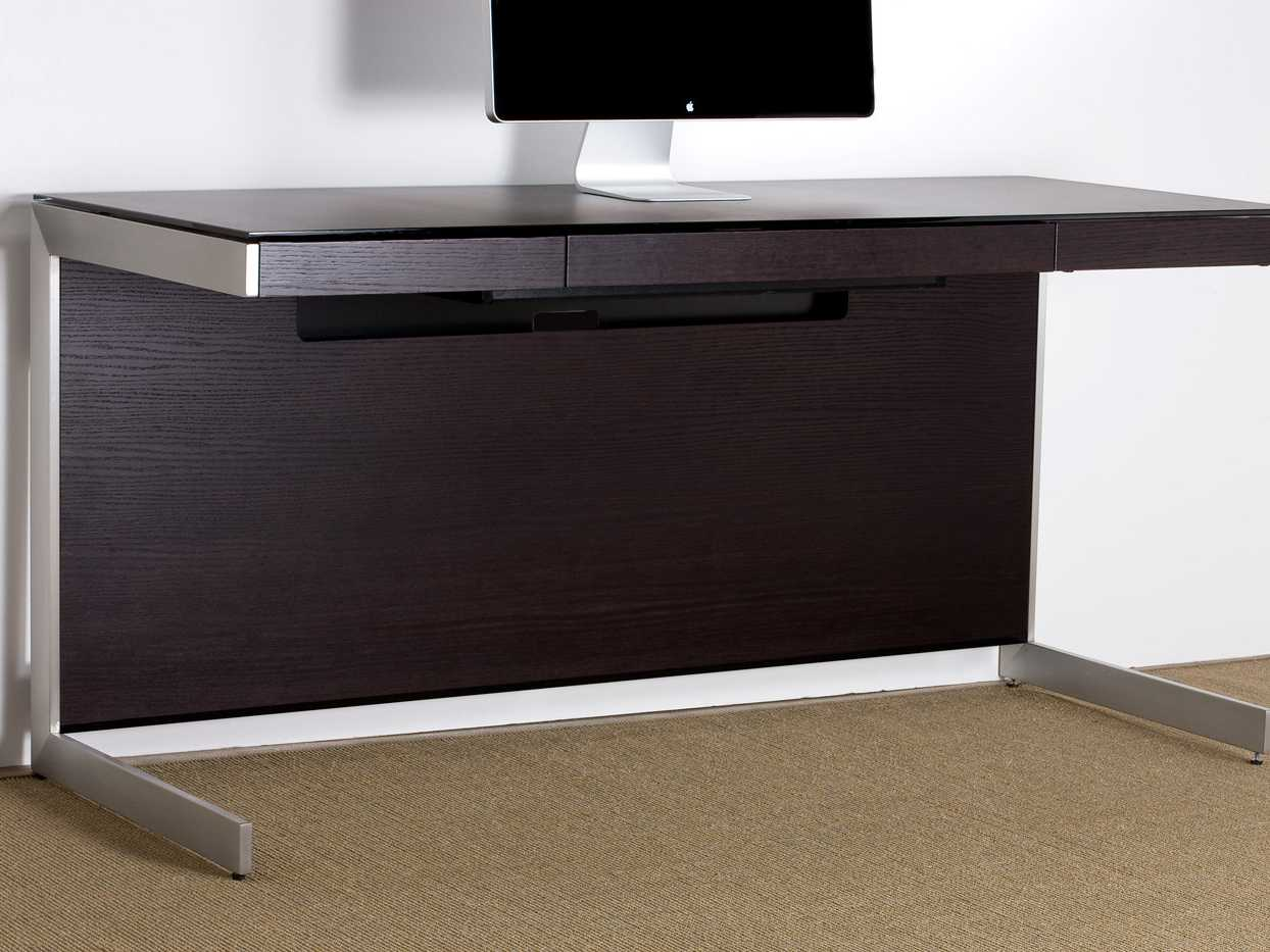 Bdi Sequel 60 X 24 Rectangular Espresso Stained Oak Computer Desk With