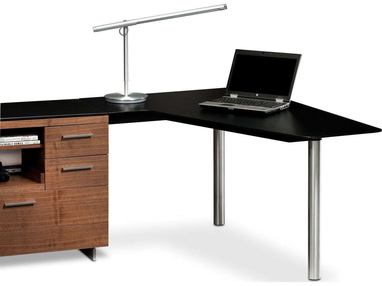 Bdi Sequel 38 39 39 X 55 39 39 Black Peninsula Desk Bdi6018