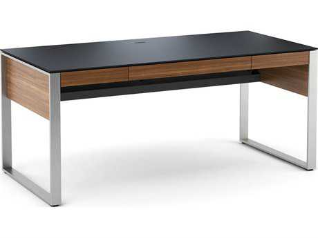 BDI Sequel 67.75'' x 32.25'' Rectangular Natural Walnut Three Drawer Executive Computer Desk