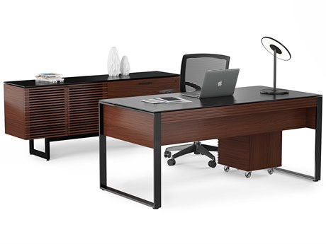 BDI Corridor 70''L x 18''W Chocolate Stained Walnut Office Credenza