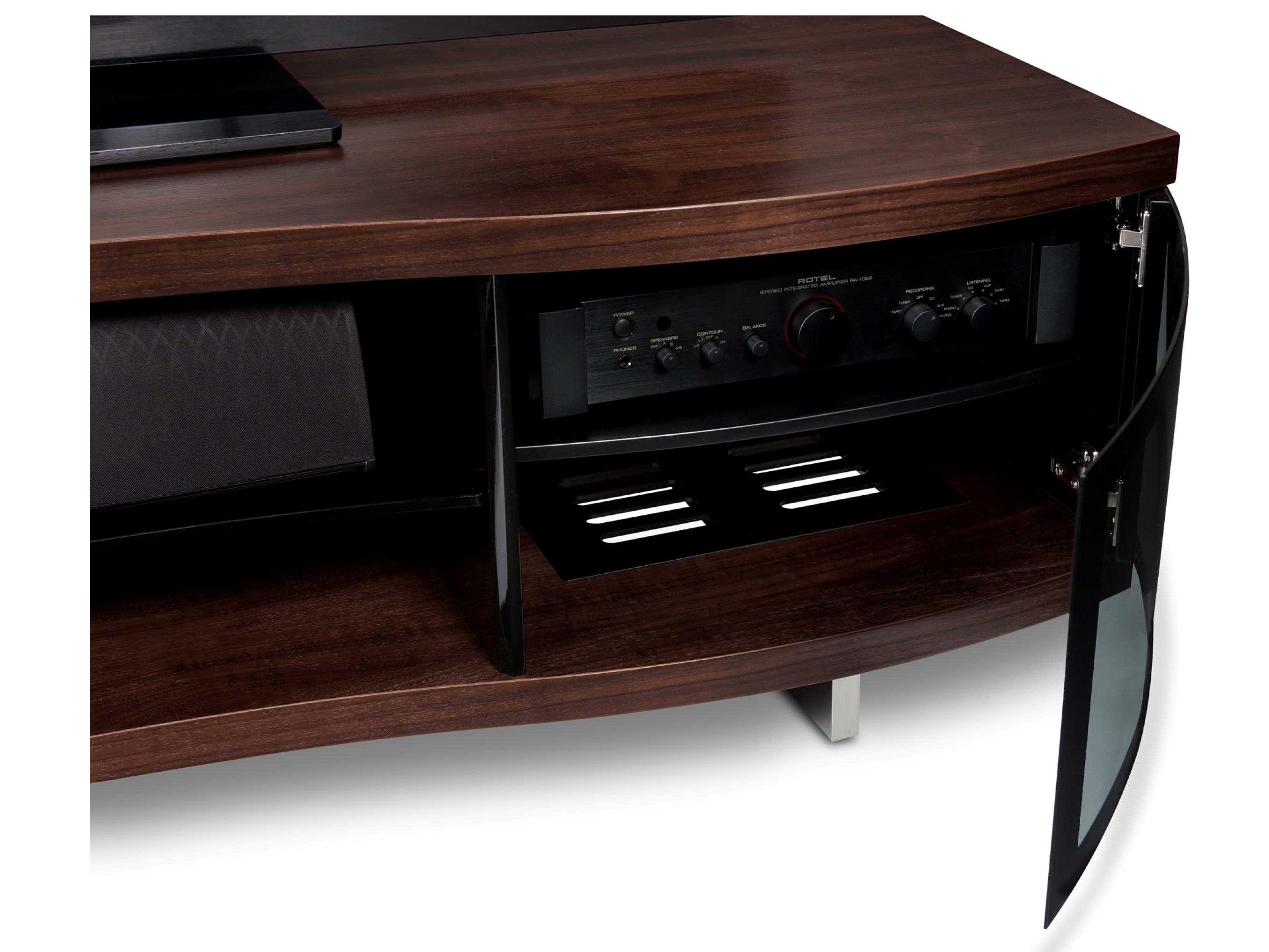 BDI Ola 69 x 21 Chocolate Stained Walnut Triple Wide Enclosed