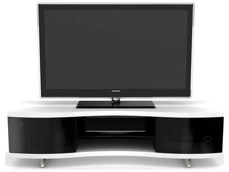 BDI Ola 69'' x 21.25'' Satin White Triple Wide Enclosed TV Stand